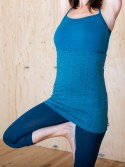 ABRIL YOGA turquoise viscose top